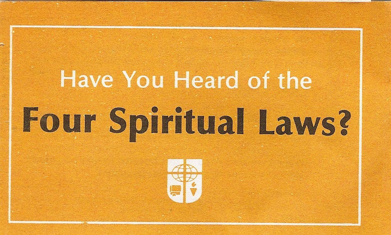 Fan image inside four spiritual laws printable